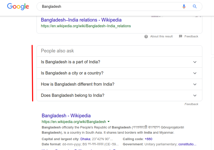 Few Facts about Bangladesh those are weird in Google Search