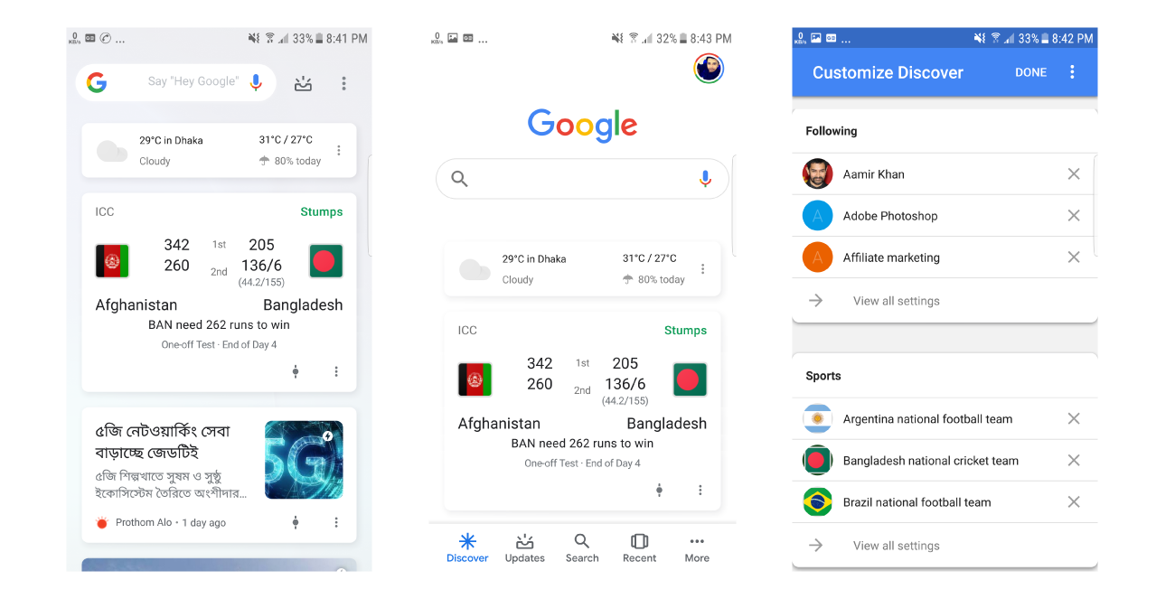 Google discover for getting content writing idea