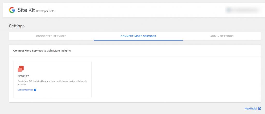 Google Site Kit WordPress plugin screenshot