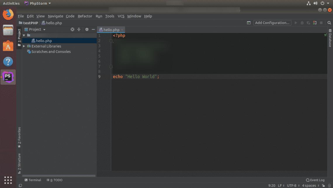 Run and open PhpStorm from terminal in Ubuntu