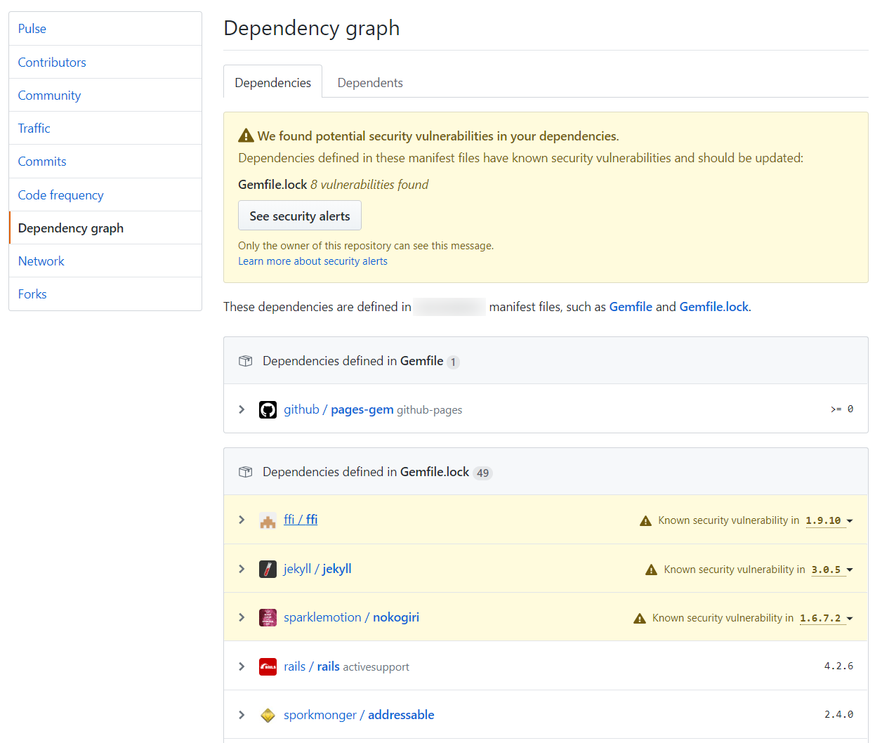 What is GitHub security alert and how to activate it?