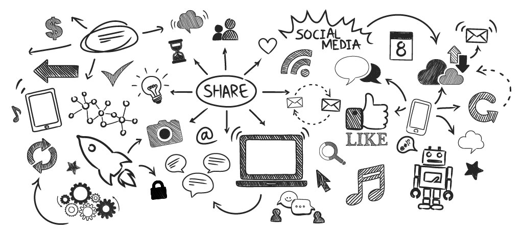 Share contents on Social Media to build personal brand